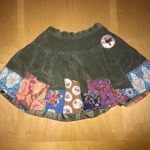 Matilda Jane Meridian Olive Green Corduroy Skirt